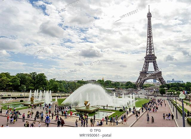 Trocadero Square and Eiffel Tower, Paris, France