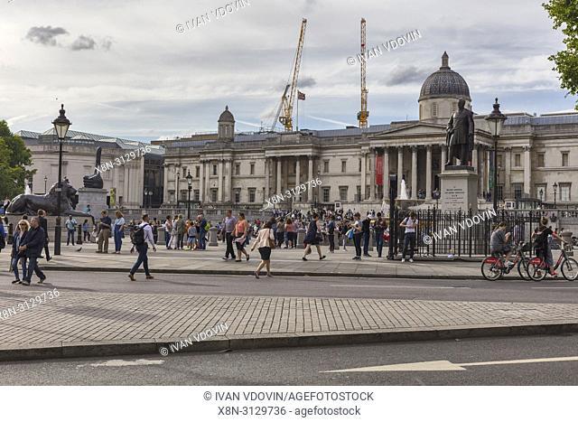 The National Gallery, Trafalgar Square, London, England, UK