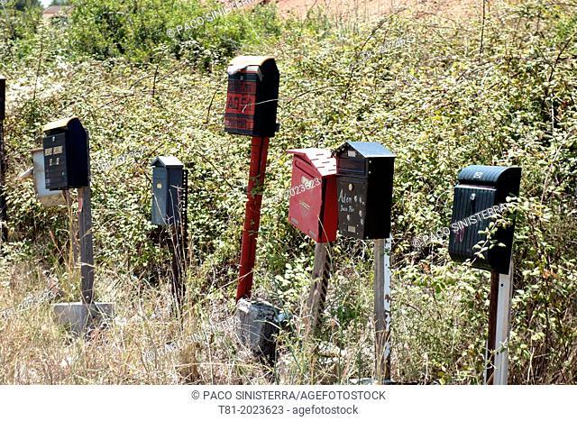 Mailboxes in javea, Valencia Spain