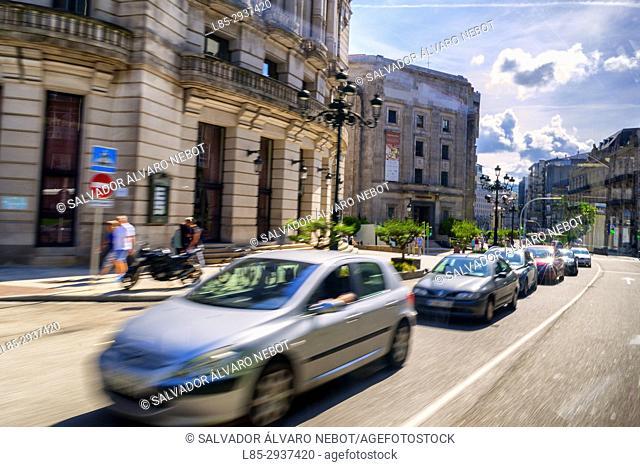 Traffic in Vigo, Spain