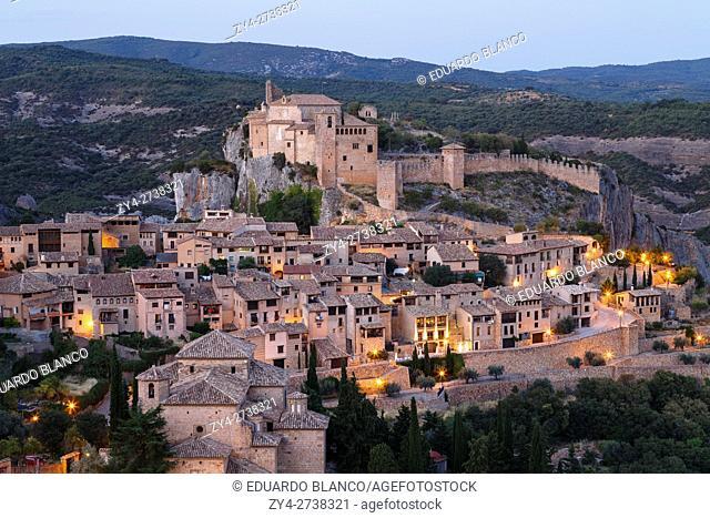 View. Medieval village of Alquezar, Huesca province, Aragon, Spain