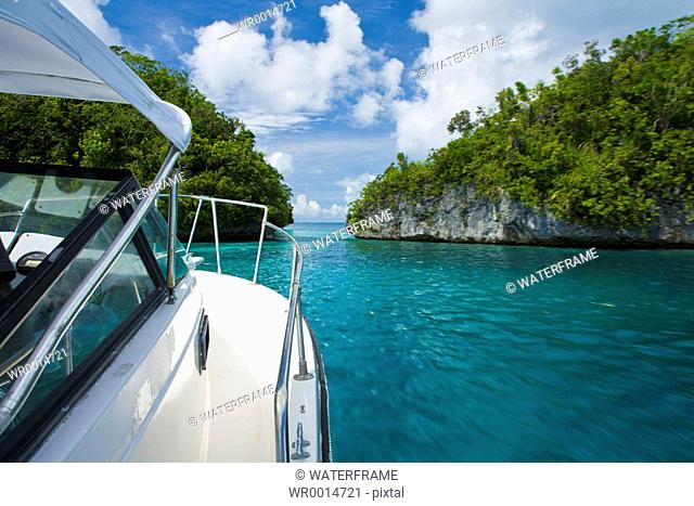 Boat Trip through Rock Islands, Pacific, Micronesia, Palau