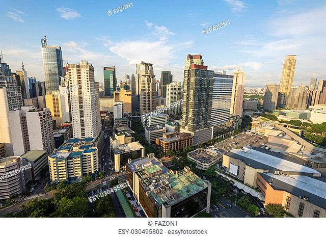 Makati City Skyline. Makati City is one of the most developed business district of Metro Manila and the entire Philippines