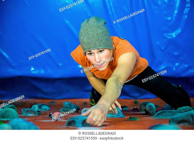 indoor climbing girl