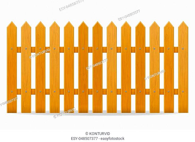 wooden fence vector illustration isolated on white background