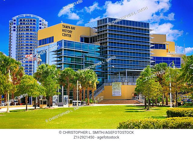 Tampa Bay History Center on the riverfront in downtown Tampa FL, USA