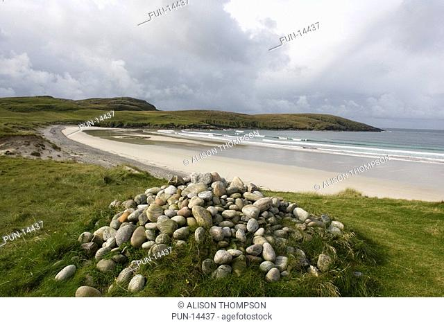 Traigh Siar beach, Isle of Vatersay, Outer Hebrides, Scotland