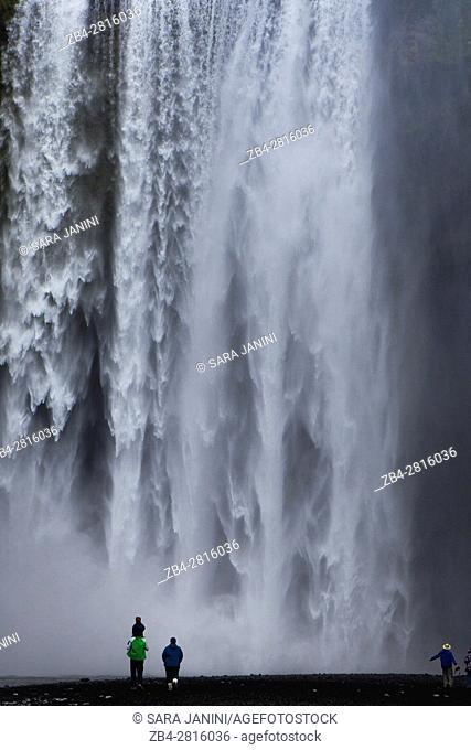 Skogafoss Waterfall, Golden Triangle, South Iceland, Polar Regions