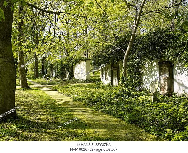 Old St. John's cemetery in Leipzig, Saxony, Germany'