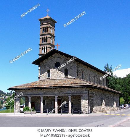 St John the Baptist church, St Moritz lower lake