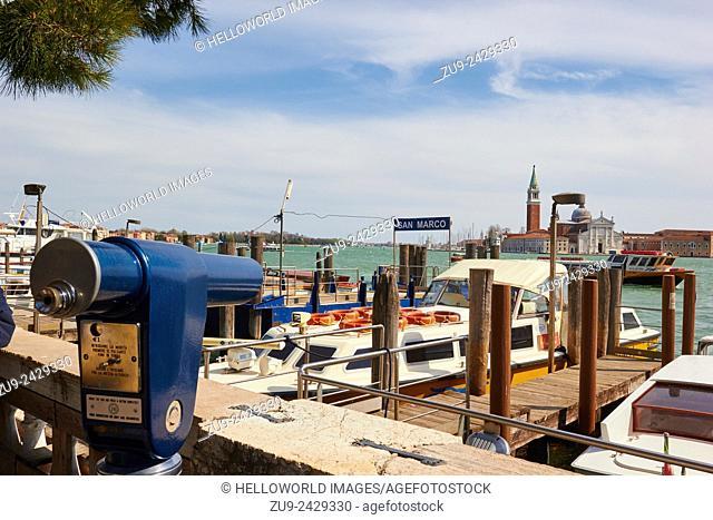 San Marco boat embarkation point, Venice, Veneto, Italy, Europe