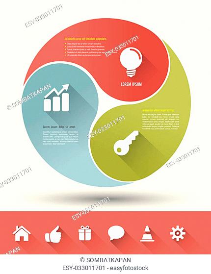 Vector for business concepts with icons / can use for info-graphic / advertising printing/ website / modern template / education template / business brochure /...