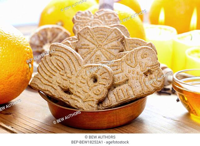 Speculaas is a type of spiced shortcrust biscuit, traditionally baked before St Nicholas' feast in the Netherlands, Belgium and Northern France and around...