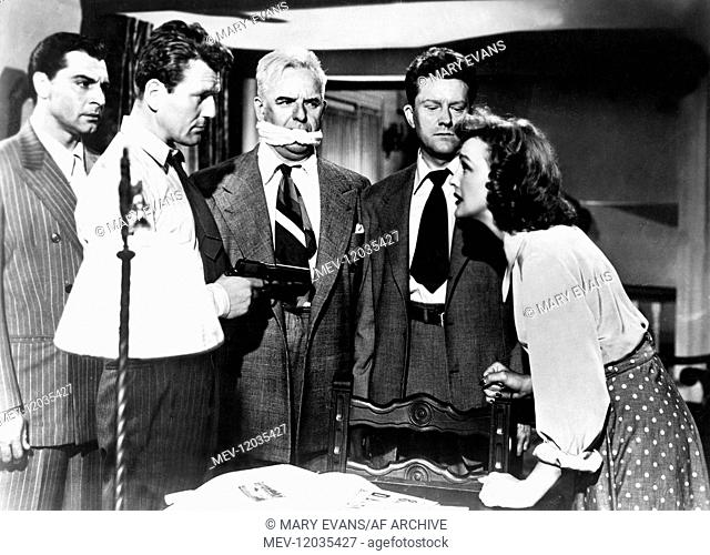 Anthony Caruso, Charles Mcgraw, Frank Conroy, Michael O'Shea & Virginia Grey Characters: Nick Damon,Arnold 'Red' Kluger,District Attorney Barker MacDonald