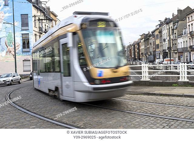 Tram, Brussels, Belgium