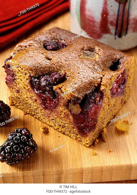 Blackberry gingerbread