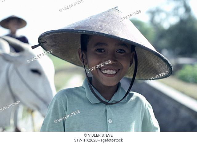 Asia, Boy, Child, Conicle, Hat, Holiday, Indonesia, Java, Landmark, Tourism, Travel, Vacation, Young