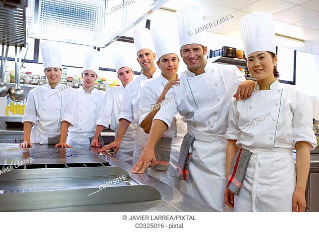 Chefs. Luis Irizar cooking school. Donostia, Gipuzkoa, Basque Country, Spain