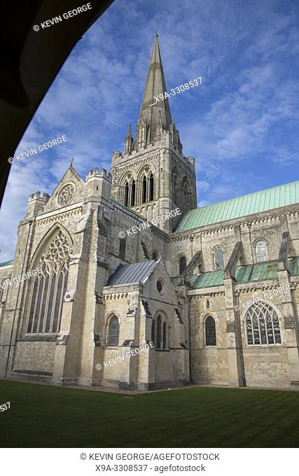 Spire of Chichester Cathedral Church, UK