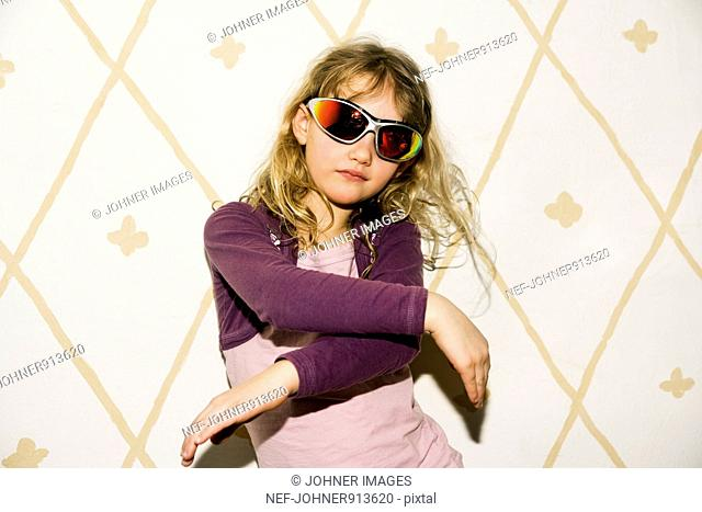 Girl with sunglasses, Sweden