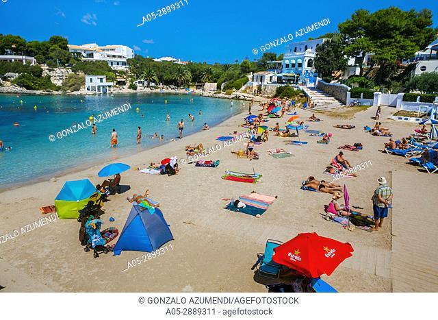 Cala Santandria Beach. Ciutadella de Menorca Municipality. Minorca. Balearic Islands. Spain