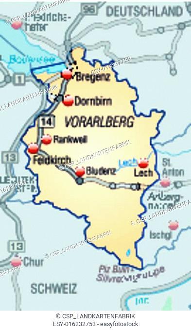 Map of vorarlberg