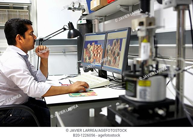 Atomic Force Microscope (AFM), Materials Physics Center is a joint center of the Spanish Scientific Research Council CSIC and the University of the Basque...