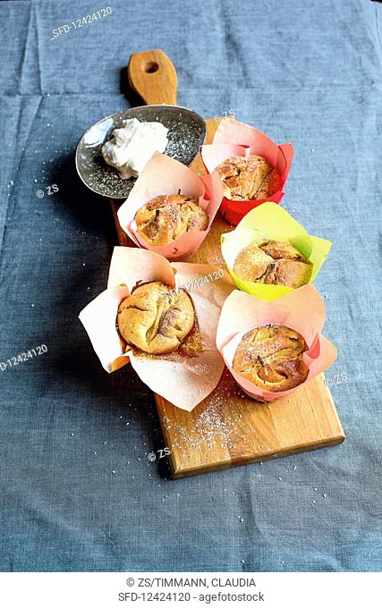 Pear and poppyseed muffins