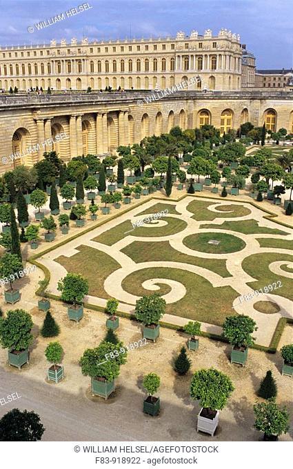 France, Versailles, Royal Palace and The Orangerie, summer