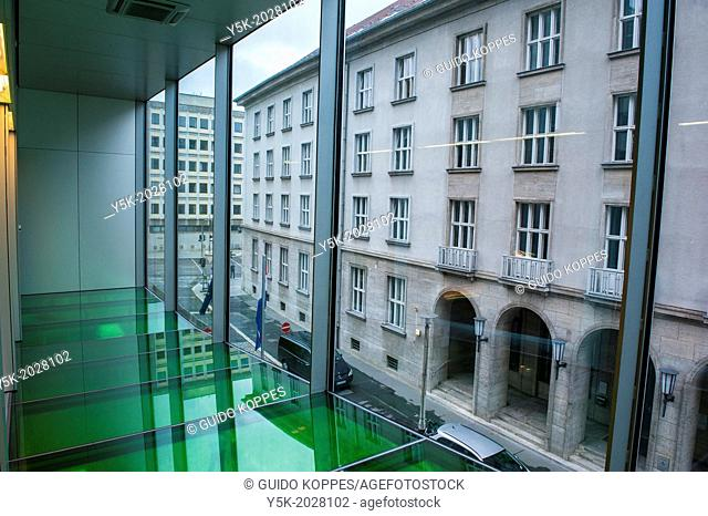 Klosterstrasse, East-Berlin, Berlin, Germany. Interior of the Dutch Embassy in Berlin, with view to the surrounding buildings