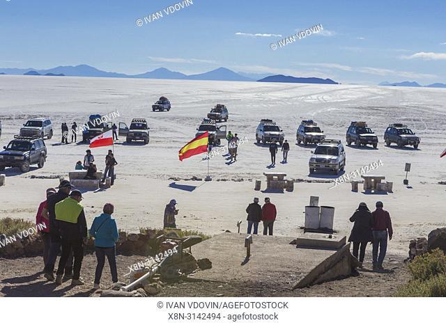 Incahuasi island, Uyuni salt flat, Salar de Uyuni, Potosi department, Bolivia
