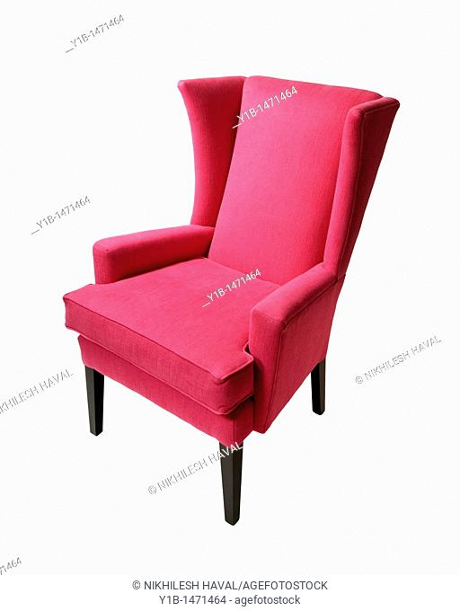 Magenta wing high back Chair