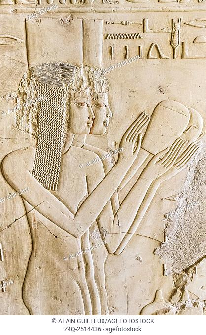 UNESCO World Heritage, Thebes in Egypt, Assassif (part of the Valley of the Nobles), tomb of Kheruef, West portico, South wing