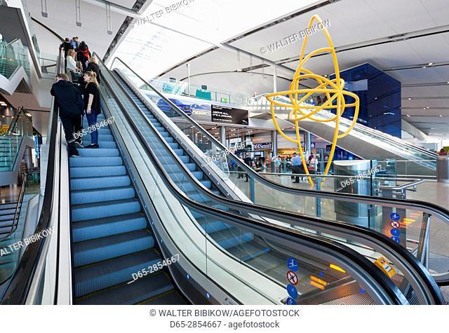 Ireland, Dublin, Dublin International Airport, Terminal 2, interior
