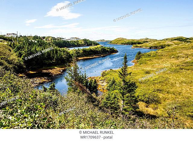 Beautiful pond near Port aux Basques, Newfoundland, Canada, North America