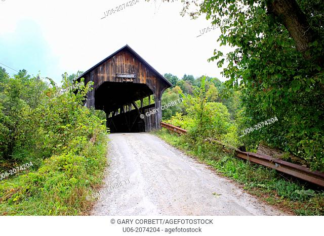Coburn covered bridge in Washington county, Vermont, USA was built in 1851 by Larned Coburn and given to the town in exchange for having the town road pass by...
