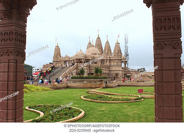 NARHE, PUNE, MAHARASHTRA, September 2018, Devotee at BAPS, Shri Swaminarayan mandir at Mumbai-Bengaluru national highway 4