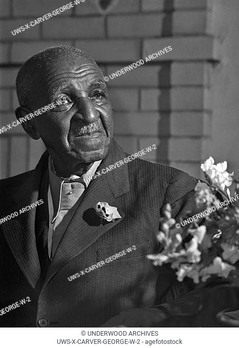 Tuskegee, Alabama, March, 1942 A portrait of Dr. George Washington Carver at the Tuskegee Institute by Arthur Rothstein