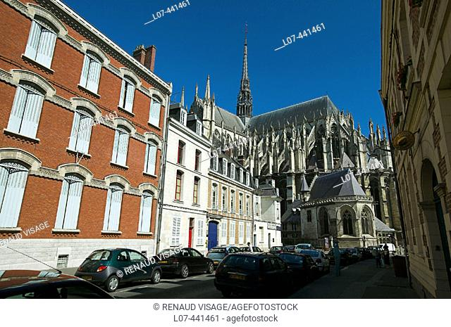 Behind the Cathedral of Amiens. Amiens. France