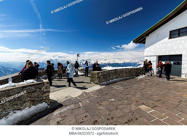 Europe, Austria, Tyrol, Innsbruck, View from Hafelekar, Nordkette, Alps