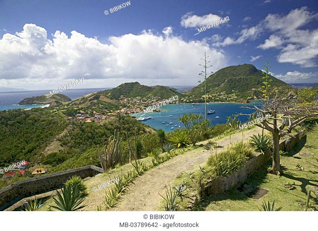 Guadeloupe, Bourg of the Saintes, fort Napoleon, Baie de Marigot, fortress, panorama