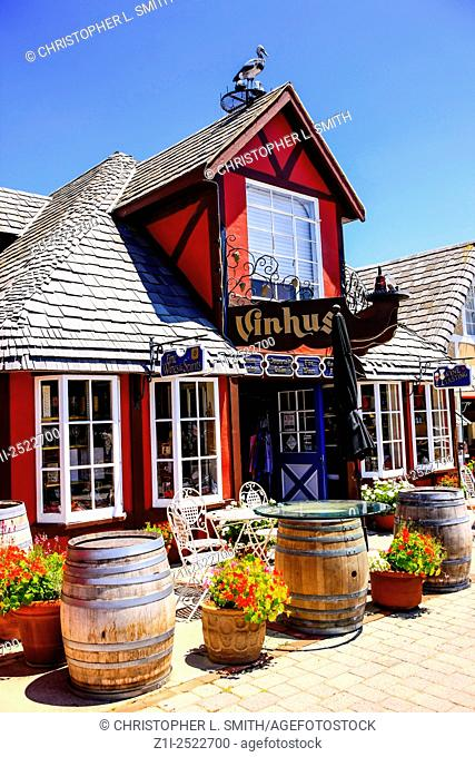 The Vinhus in the Danish-styled fairytale village of Solvang in the Santa Ynez valley of California