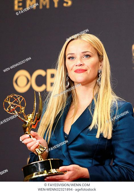 The 69th Emmy Awards - Press Room At The Microsoft Theater In Los Angeles, California Featuring: Reese Witherspoon Where: Los Angeles, California