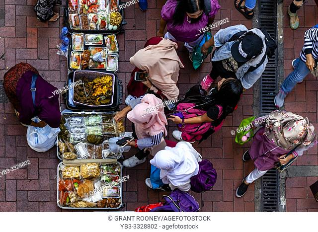 Indonesian Women Selling Street Food, Causeway Bay, Hong Kong, China