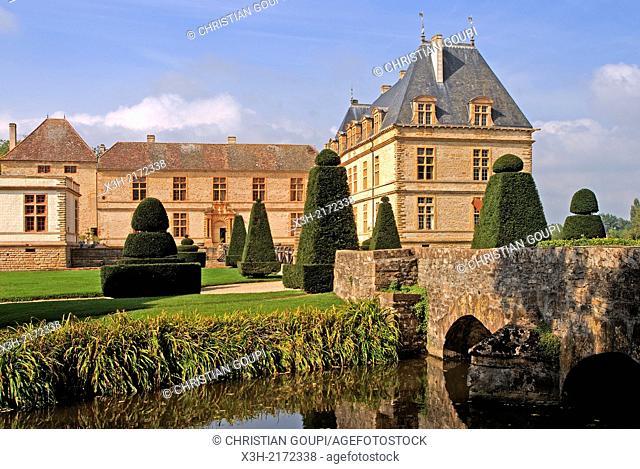 Castle of Cormatin, Saone et Loire department, Burgundy region, France, Europe