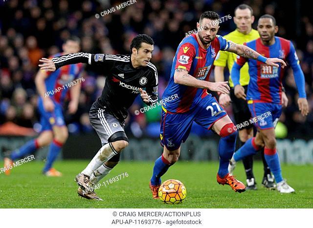 2016 Barclays Premier League Crystal Palace v Chelsea Jan 3rd. 03.01.2016. Selhurst Park, London, England. Barclays Premier League