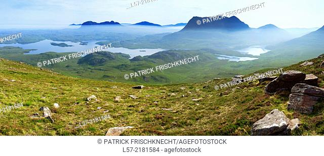 Mt. Suilven and Cul Mor, Sutherland, Scotland