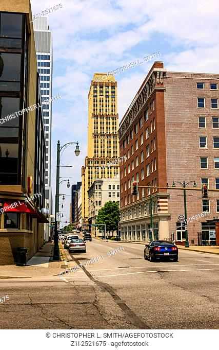 Downtown Memphis city center in Tennessee