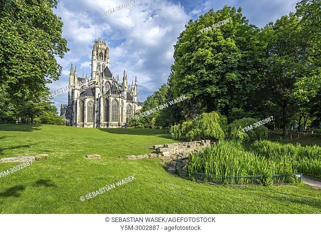 Monastery of Saint-Ouen, Rouen, Seine-Maritime, Normandie, France, Europe