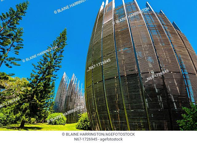 Tjibaou Cultural Center by architect Renzo Piano, Noumea, Grand Terre, New Caledonia